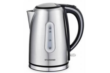 Чайник электрический Starwind SKS5540 1.7л. 2200Вт серебристый матовый (корпус: нержавеющая сталь)