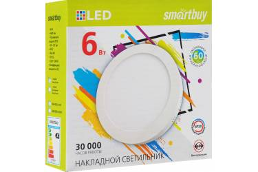Накладной (LED) светильник Round SDL Smartbuy-6w/4000K/IP20 _круг d110_h28