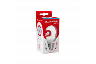 Лампа светодиодная ЭКО_Экономка _GL45_7W/6500K_ E27 _ШАР