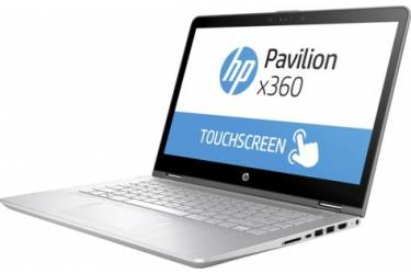 "Ноутбук HP Pavilion 14-ba022ur Core i7 7500U/8Gb/1Tb/SSD128Gb/nVidia GeForce 940MX 4Gb/14""/IPS/Touch/FHD (1920x1080)/Free DOS/silver/WiFi/BT/Cam"