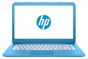 """Ноутбук HP Stream 14-ax015ur Celeron N3060/4Gb/SSD32Gb/Intel HD Graphics/14""""/HD (1366x768)/Windows 10 64/blue/WiFi/BT/Cam"""