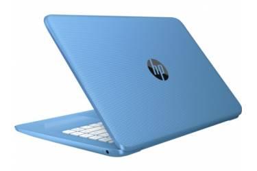 """Ноутбук HP Stream 14-ax004ur Celeron N3050/4Gb/SSD32Gb/Intel HD Graphics/14""""/HD (1366x768)/Windows 10 64/lt.blue/WiFi/BT/Cam"""