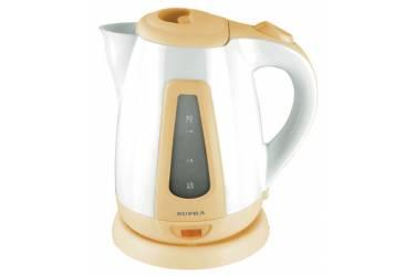 Чайник электрический Supra KES-1704 1.7л. 2000Вт белый/бордовый