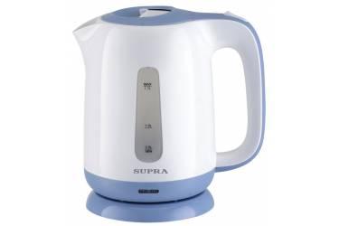 Чайник электрический Supra KES-1724 1.7л. 2200Вт белый/синий (корпус: пластик)