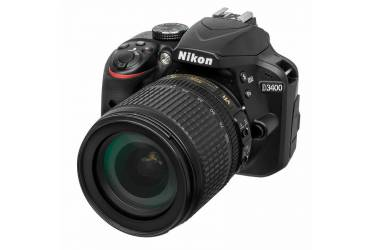 "Зеркальный Фотоаппарат Nikon D3400 черный 24.2Mpix 18-105mm f/3.5-5.6 VR 2.9"" 1080p Full HD SDXC Li-ion (с объективом)"