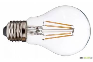 Светодиодная (LED) Лампа FIL (прозрачная) FOTON-A68-12W/3000/E27