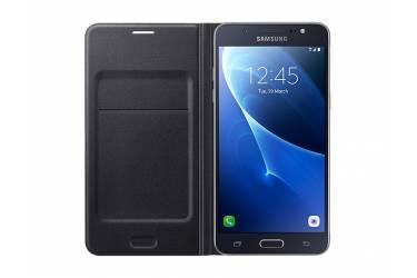 Оригинальный чехол Samsung J710 Black Flip Wallet
