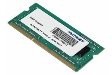 Память DDR3 4Gb 1600MHz Patriot PSD34G160082S RTL PC3-12800 CL11 SO-DIMM 204-pin 1.5В