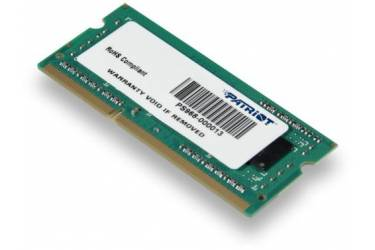 Память DDR3 4Gb 1333MHz Patriot PSD34G133382S RTL PC3-10600 CL9 SO-DIMM 204-pin 1.5В dual rank