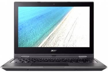 "Ноутбук Acer TravelMate TMB118-RN-C8Q3 Celeron N3350/4Gb/SSD32Gb/Intel HD Graphics 500/11.6""/IPS/Touch/FHD (1920x1080)/Windows 10 Professional 64/black/WiFi/BT/Cam/3220mAh"