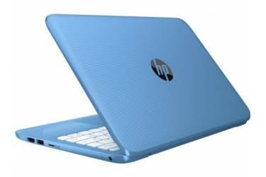 """Ноутбук HP Stream 11-y004ur Celeron N3050/4Gb/SSD32Gb/Intel HD Graphics/11.6""""/HD (1366x768)/Windows 10 64/lt.blue/WiFi/BT/Cam"""