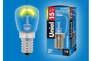 Лампа мини Uniel IL-F25-CL-15/E14 15Вт для холодильников и швейных машин