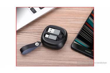 Кабель USB Hoco U33m Retractable MicroUSB (черный)