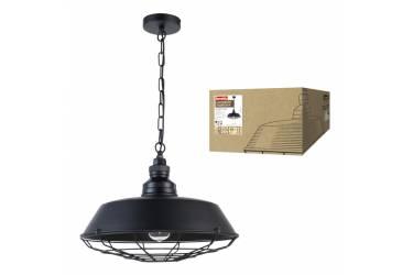 Светильник декоративный подвесной Uniel DLC-V303 E27 BLACK Fametto Vintage металл Ø460*1300