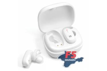 Наушники беспроводные (Bluetooth) Promate TrueBlue-3 с микрофоном (white)