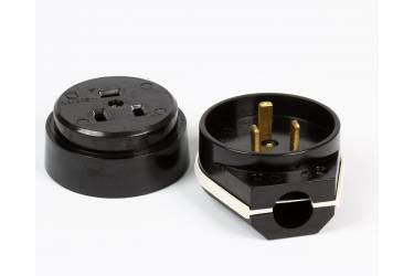 Разъем Smartbuy, для плиты 32А 250В 2P+PE (ОУ) карболитовый черный