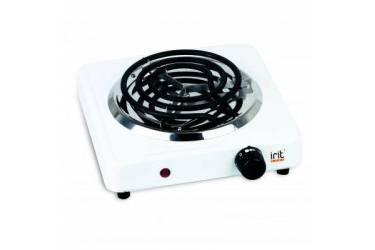 Плитка электрическая настольная IRIT IR-8101 (белая) спираль 1конфорка чугун 1000 Вт
