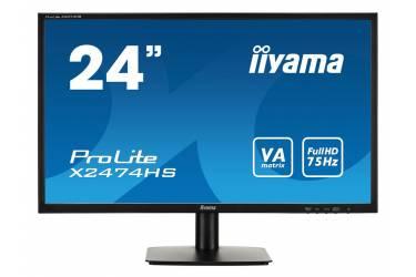 """Монитор Iiyama 23.6"""" X2474HS-B2 черный VA LED 4ms 16:9 HDMI DisplayPort M/M Mat 30 (плохая упаковка)"""