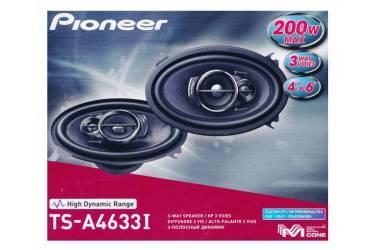 Колонки автомобильные Pioneer TS-A4633I 200Вт 4Ом 10x16см (4x6дюйм) (ком.:2кол.) коаксиальные трехполосные