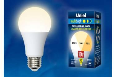 Лампа светодиодная Uniel LED-A60-10W/WW/E27/FR/MB три яркости