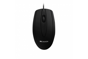 mouse CANYON wired optical Mouse with 3 buttons, DPI 1000, Black, cable length 1.15m