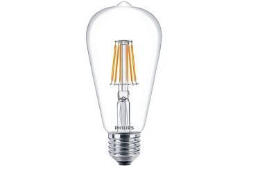 Лампа светодиодная PHILIPS_ST64_4.3W/830_E27 _470 lm _FILAMENT_VINTAGE_ прозрачная