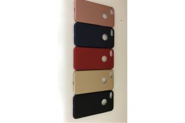 Накладка пластик Iphone 6G/S окошк. под ябл. синий
