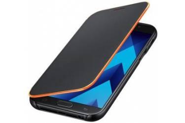 Оригинальный чехол (флип-кейс) для Samsung Galaxy A7 (2017) Neon Flip Cover черный (EF-FA720PBEGRU)