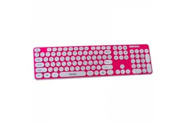 Клавиатура Perfeo Wireless. Circle Keyboard  PF-5502-WL розовая