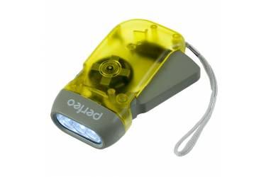 Фонарь Perfeo электродинамический светодиодный желтый 40LM