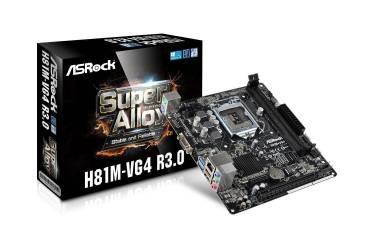 Материнская плата Asrock H81M-VG4 R3.0 Soc-1150 Intel H81 2xDDR3 mATX AC`97 8ch(7.1) GbLAN+VGA