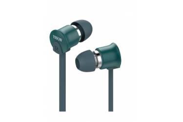 Наушники Yison EX700 внутриканальные с микрофоном синие