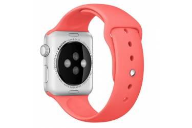 Ремешок Smart Apple Watch Sport 42 mm силиконовый, красный (упаковка картон)