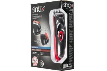 Машинка для стрижки Sinbo SHC 4354S красный/черный (насадок в компл:1шт)