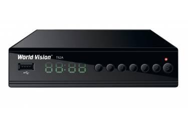 Тюнер T2 World Vision T62A (YouTube, Megogo, IPTV) черный + Адаптер Wi-Fi RT5370