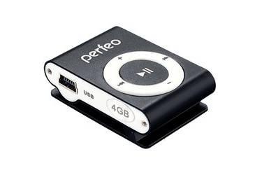 Портативный цифровой плеер Perfeo Music Clip Titanium 8 Gb черный