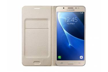 Оригинальный чехол Samsung J710 Gold Flip Wallet