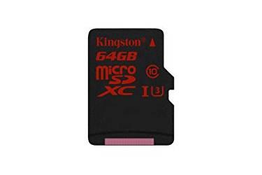 MicroSDXC флэш-накопитель 64GB Class 10 Kingston UHS-I U3 (90Mb/s)
