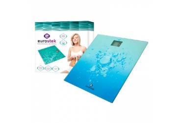 Весы напольные электронные Eurostek EBS-2601 150кг стекло голубые