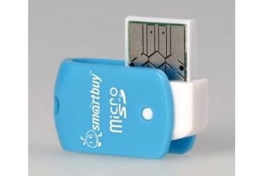 Картридер MicroSD Smartbuy голубой (SBR-706-B)