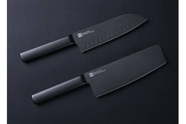 Набор кухонных ножей Xiaomi Huo Hou Black Heat Knife Set (2 шт.), Black CN