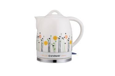 Чайник электрический Endever Skyline KR-430 C. белый,керамический 1600Вт 1,7л