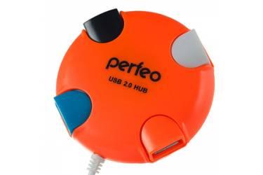 IT/acc Perfeo USB-HUB 4 Port, (PF-HYD-6098H Orange) оранжевый