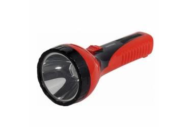 Фонарь SmartBuy аккумуляторный светодиодный 2 Вт LED красный/чёрный без адаптера