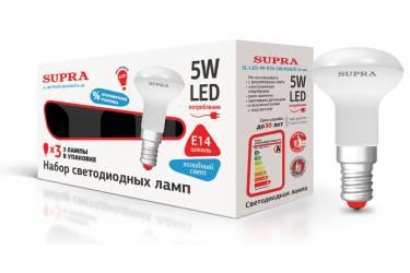 Лампа светодиодная SUPRA_PR_R39-05W/3000/E14 _набор из 3-х ламп