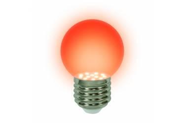 Лампа светодиодная UNIEL LED-G45-0,65W/RED/E27 декор красная