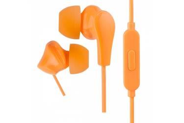 Наушники Perfeo ALPHA внутриканальные c микрофоном оранжевые
