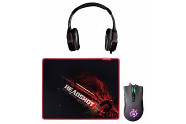 Наушники с микрофоном A4 G500+A91+B-072 черный/красный 2.2м мониторы оголовье (A91G5PB72)