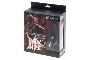 Наушники с микрофоном Oklick HS-L340G DARK SIDE черный 2.2м мониторы оголовье (HS-L340G)