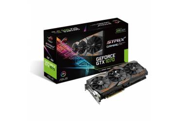 Видеокарта Asus PCI-E STRIX-GTX1070-O8G-GAMING nVidia GeForce GTX 1070 8192Mb 256bit GDDR5 1657/8000 DVIx1/HDMIx2/DPx2/HDCP Ret